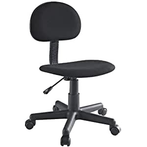 LexMod Typist Task Swivel Chair in Black Fabric