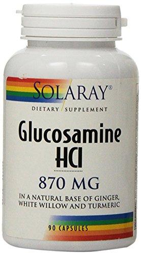 Solaray Glucosamine HCL Capsules, 870 mg, 90 Count (Hcl Glucosamine)