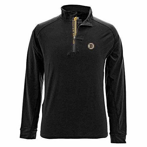 - Levelwear LEY9R NHL Boston Bruins Men's Peak Banner Stripe Quarter Zip Mid-Layer Jacket, Large, Black
