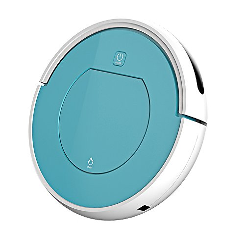 Robotic Vacuum Cleaner with Strong Suction, Quiet Design for Pet Hair and Allergens, Applicable for Thin Carpet and Hard Floor, Blue