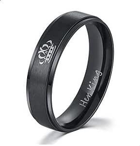 Women's Crown Ring Black Size 7