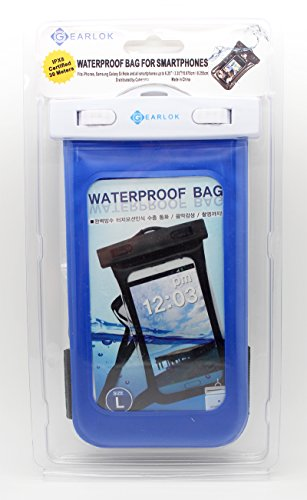 GEARLOK Waterproof Underwater Case Bag Pouch Holder Armband Swimming Boating Kayak Fishing Surfboard For Cellphone