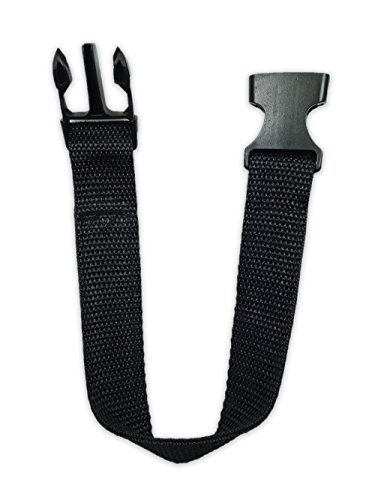 Price comparison product image Fanny Pack Strap Extender Additional Buckle Luggage Strap Fastener 13 Inches Black (Strap Extension)