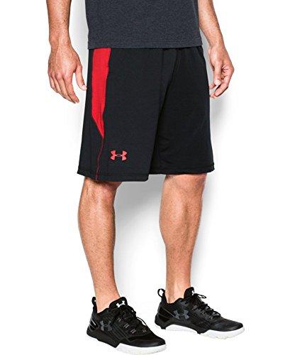 "Under Armour Men's Raid 10"" Shorts, Black/Red, X-Large"