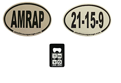 21 Boston Bottle (AMRAP+21-15-9+Credit Card Bottle Opener Fitness Bumper Stickers (CF Combo))