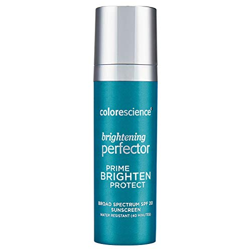 Colorescience Brightening Perfector Face Primer, Water Resistant Mineral Sunscreen, Broad Spectrum 20 SPF UV Skin Protection