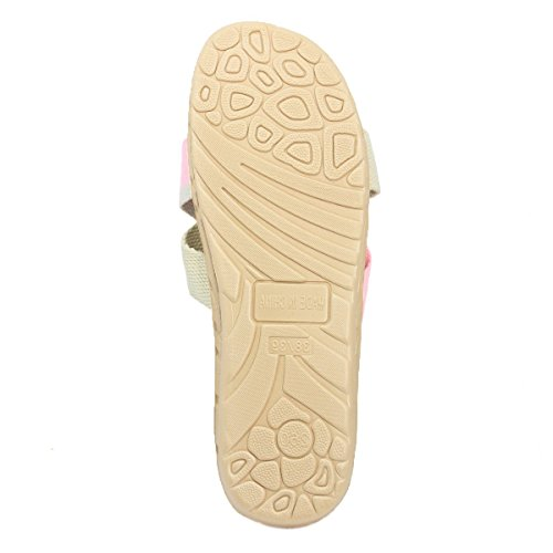 Pantofole Da Casa Traspiranti In Lino Leggero Bestphour Rosa E Kaki