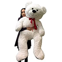 Giant Teddy Bear 52 Inch White Soft, Premium Quality Big Plush, Weighs 12 Pounds