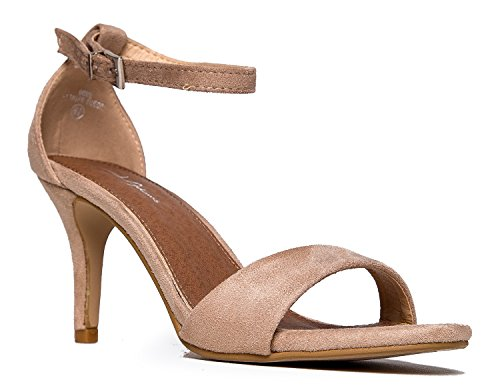 J. Adams Low Ankle Strap Work Heel, Light Taupe Suede, 9 B(M) US
