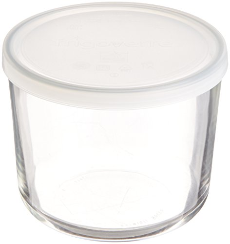 Tall Glass Bowl (Bormioli Rocco Frigoverre Round Tall Storage Container with Frosted Lid,)