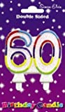 Milestone Birthday Candle - Number 60 by Creative