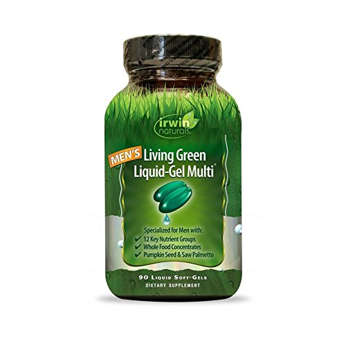 - Men's Living Green Multi Vitamin by Irwin Naturals, Key Nutrients and Whole Food Concentrates, 90 Liquid Softgels
