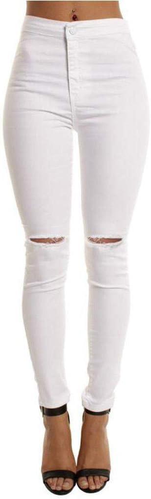 Yellsong Jeans Para Mujer Estilo Informal Con Cierre De Un Solo Boton Con Agujero Para Mosca Rectos Blanco L Amazon Com Mx Ropa Zapatos Y Accesorios