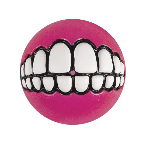 Rogz Fun Dog Treat Ball in various sizes and colors, Large, Pink
