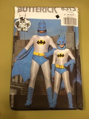 Butterick 6313 Sewing Pattern, Men's/Boys' Batman Costume, Size A (XS-S-M-L) for $<!--$17.99-->