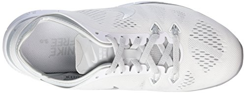 0 Nike 5 White 5 Training Cross Women's Fit Shoes TR Silver Free Platinum Metallic Pure qEEwnUprxg