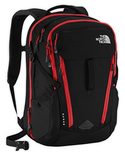 The North Face S881862444702 2016 Surge Backpack, TNF Black/Pompeian Red,