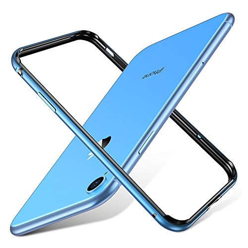 ESR Crown Metal Bumper Case for iPhone XR, Metal Frame Armor with Soft Inner Bumper [Zero Signal Interference] [Raised Edge Protection] for iPhone XR,Blue