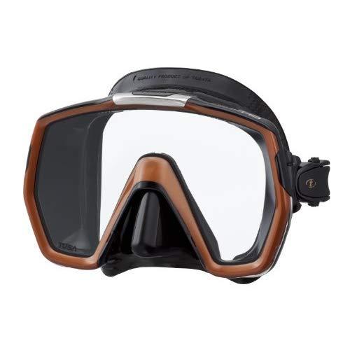 TUSA M-1001 Freedom HD Scuba Diving Mask, Black/Bronze