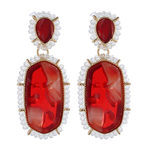 (Moonite Women Fashion Beaded Earring Creative C Shape Earrings Luxury Pearl Earring )
