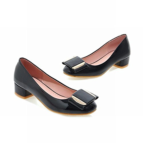 Show Shine Womens Fashion Sweet Casual Loafers Shoes Black fyIG0e5