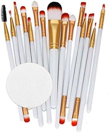 15PCS Makeup Brush Set,Lavany Make up Brushes Set Foundation Powder Eyeshadow Eyeliner Cosmetics Tools Make-up Toiletry Kit Wool Brush for Women Girls (White)
