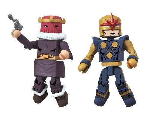 Diamond Select Toys Marvel Minimates Series 50 Fan's Choice Series Baron Zemo I and Nova Corps Centurion Action Figure