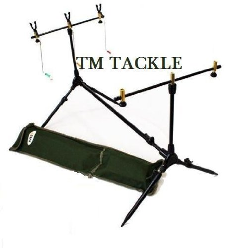 CARP//PIKE ROD POD WITH BUTT GRIPS SWINGERS AND BUZZ BARS by TM TACKLE