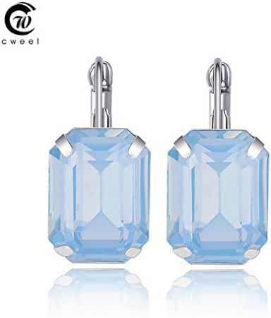 Glucky : Fashion Jewelry Dangle Earrings For Women Wedding Party Bridal Crystal African Beads Trendy Earring Platinum Plated