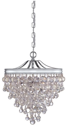 Crystorama 130-CH Crystal Three Light Pendants from Calypso collection in Chrome, Pol. (Crystorama Lighting Chandelier)