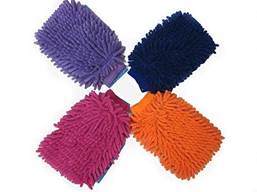 Easy Go Shopping Nettoyage de la Voiture Gants de séchage Ultrafine Fibre Chenille Microfibre Outil De Lavage De La Fenêtre Nettoyage De La Maison Gant De Lavage De Voiture, Dix Paire (Color : Blue)