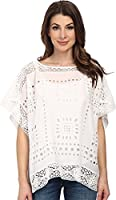 Vince Camuto Women's Embroidered Eyelet Poncho