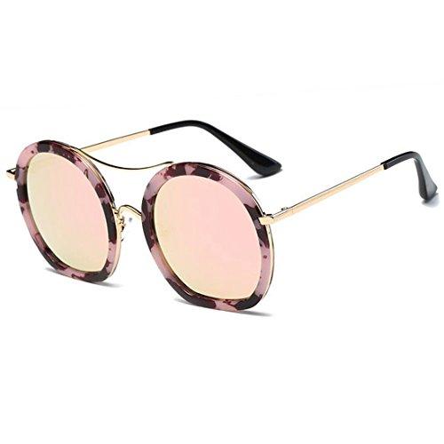 Soleil Couleur Soleil Gradient Lunettes Femme Lunettes Frame pour De Pink Gold LBY Lens Tea Frame Polarisées Gold de Femme Lens q8wvcp