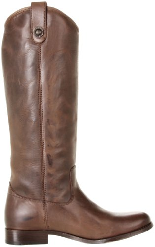 FRYE Women's Melissa Button Boot Dark Brown Brush Off Leather cheap sale geniue stockist 100% guaranteed sale online for sale wholesale price 20OGm5