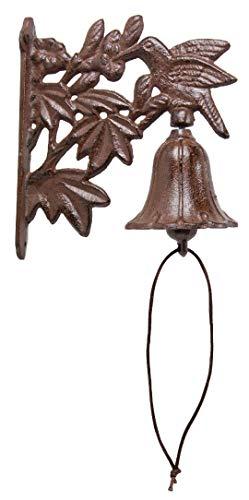 Cast Iron Hummingbird Dinner Bell Yard Art Wall Hanging - Hummingbird Bell