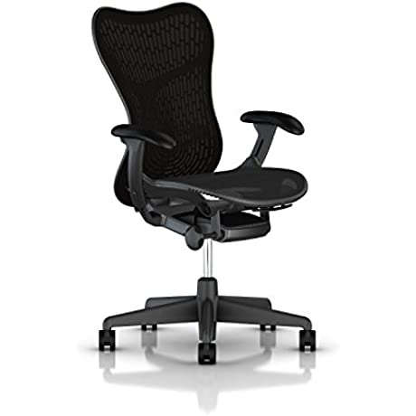 Herman Miller Mirra 2 Task Chair Standard Tilt FlexFront Adj Seat Depth Adj Lumbar Support Butterfly Back Adj Arms Graphite Base Frame