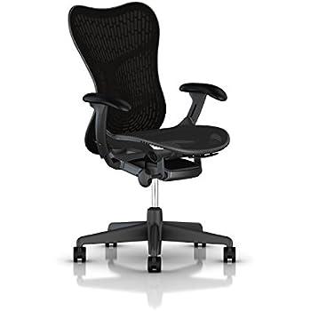 Herman Miller Mirra 2 Task Chair: Standard Tilt - FlexFront Adj Seat Depth - Adj Lumbar Support - Butterfly Back - Adj Arms - Graphite Base & Frame
