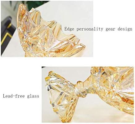 フルーツボウル リビングルームやパーティーのためのヨーロッパのクリスタルガラスの台所フルーツボウルストレージラック、カウンターフルーツスナック洋菓子ナッツキャンディープレートのディスプレイスタンド、ホームデコレーション、 (Color : Colourful, Size : 24.5x23cm)