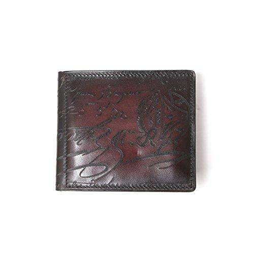 【Berluti(ベルルッティ)】マネークリップ 二つ折り財布 柄物 ロゴ ブラウン [並行輸入品] B07DVCTGXJ
