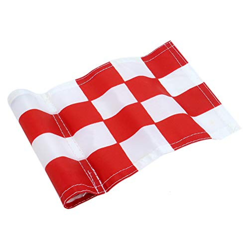 Monrocco Practice Golf Flags,Red-White Checkered Training Golf Putting Green Flags for Indoor Outdoor Backyard Garden