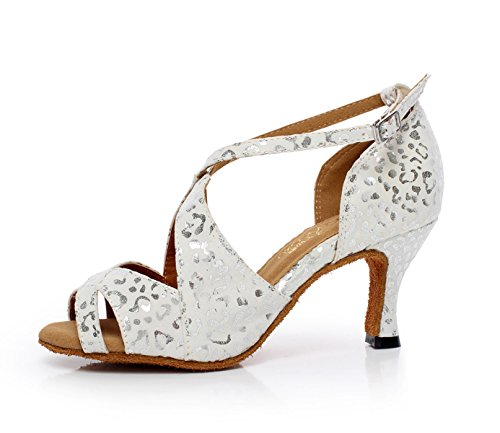 EU35 Sandalias Our36 Modern White JSHOE Tango Tacones UK4 Mujer Samba Shoes Altos Para Tea heeled6cm Jazz Salsa Uq4ZUwB0