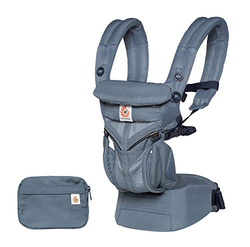 Ergobaby Carrier, Omni 360 All Carry Positions Baby Carrier with Cool Air Mesh, Oxford Blue