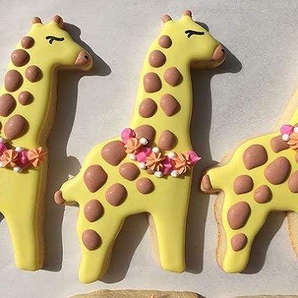 elefante oso polar jirafa Ann Clark Cortador de galletas hipop/ótamo 5 piezas dise/ño de animales zool/ógicos con folleto de recetas mono