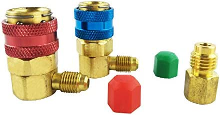Wisepick R-12 to R-134a Conversion Quick Connect Coupler Tank Adapter Set