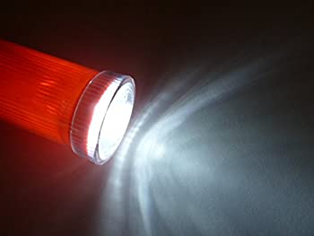 Import by diskpro, 16.5 inch Traffic Baton Light, in 7 Red LED with two flashing modes (blinking & Steady-glow), plus 5 white LED on tip, using 2 D-size batteries. Good for Parking Guides.