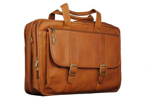 David King & Co. Expandable Laptop Briefcase, Tan, One Size David King Tan Briefcase
