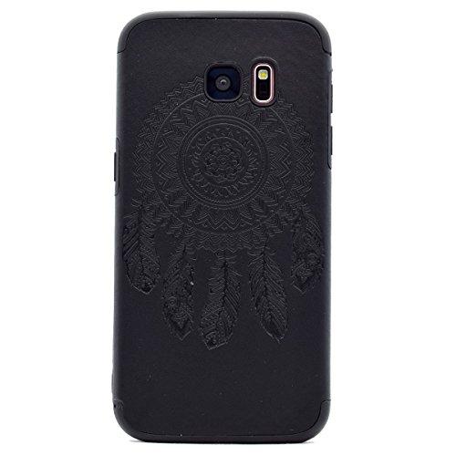 inShang Funda para Samsung Galaxy S7 Edge suave TPU Carcasa Cajas Soporte Skin case cover Para Galaxy S7 Edge Black chimes