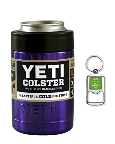 Custom Yeti Coolers Rambler Colster Can Beverage Insulator - Keep your 12 oz beer or soda, can or bottle, cold for hours (Purple Metallic) (Electric Chest Beer Cooler compare prices)