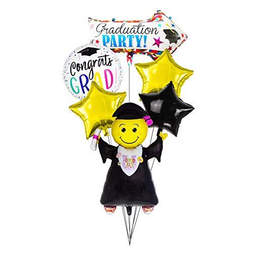 CY Mylar Graduation Balloons Jumping Grad -