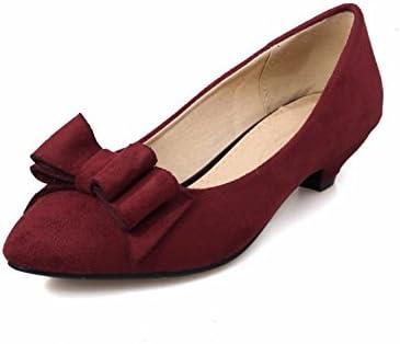 Pajarita Zapatos De Mujer Calzado Ligero Con La Boca Grande Zapatos De Talla Grande Dulce Vino Tinto 41 Amazon Es Deportes Y Aire Libre